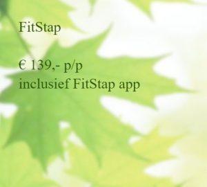 Het hele fitstapprogramma voor 12 lessen , inclusief de speciale Fitstapapp kost € 139,- p/p. Wil je individueel en geheel op jouw wensen afgestemdhet fitstapprogramma volgen, dan zijn de kosten € 50,- per les.